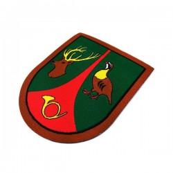 escudo de brazo termoadhesivo guarda particular de caza