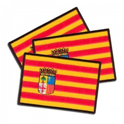 bandera aragonesa bordada