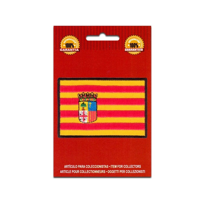 bandera bordada de aragon