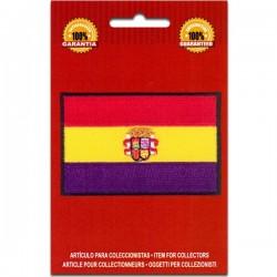 bandera republicana España con escudo