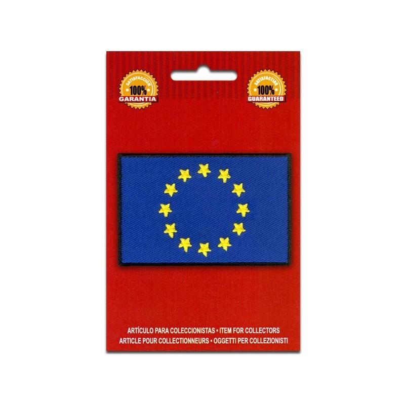 bandera bordada unión europea