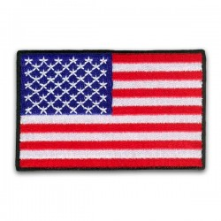 iron on embroidered flag united states