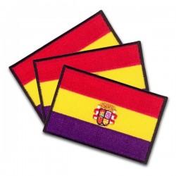 iron on flag spanish republic whit emblem