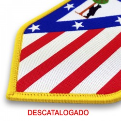old shield atletico madrid spain