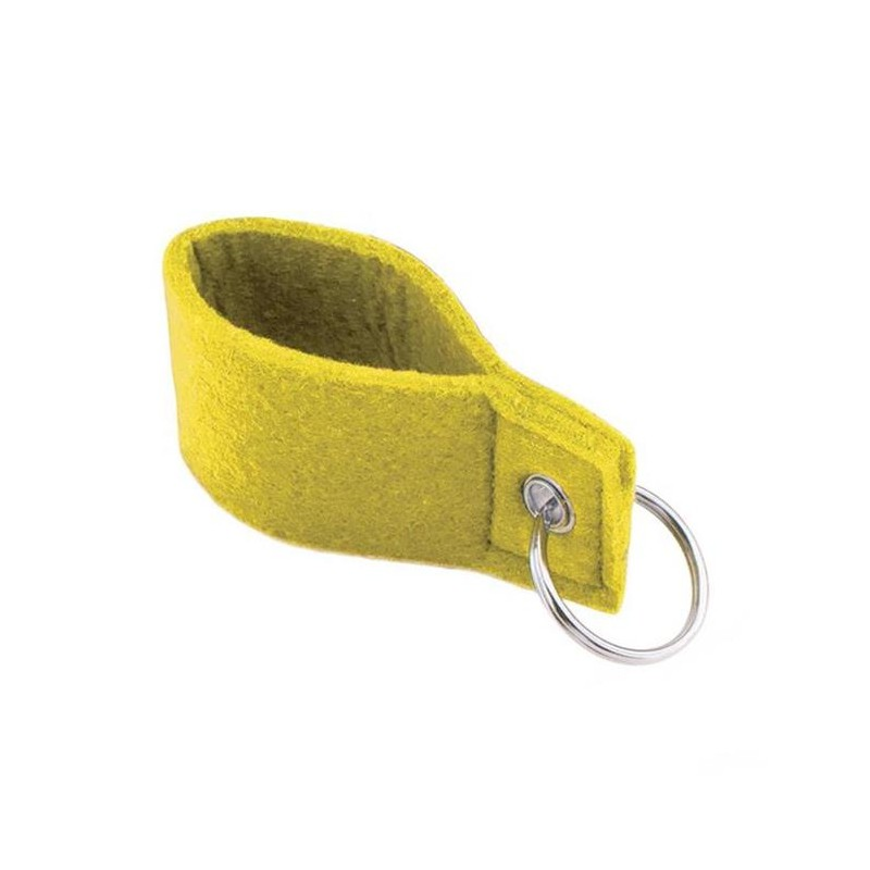 Yellow Felt Keychain