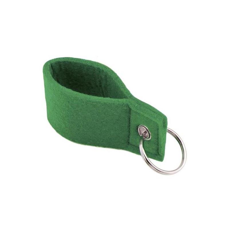 Green Felt Keychain