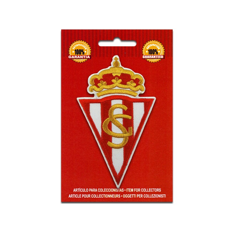 iron on embroidered patch Sporting Gijon