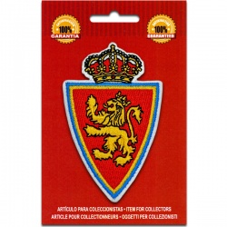 escudo bordado real zaragoza